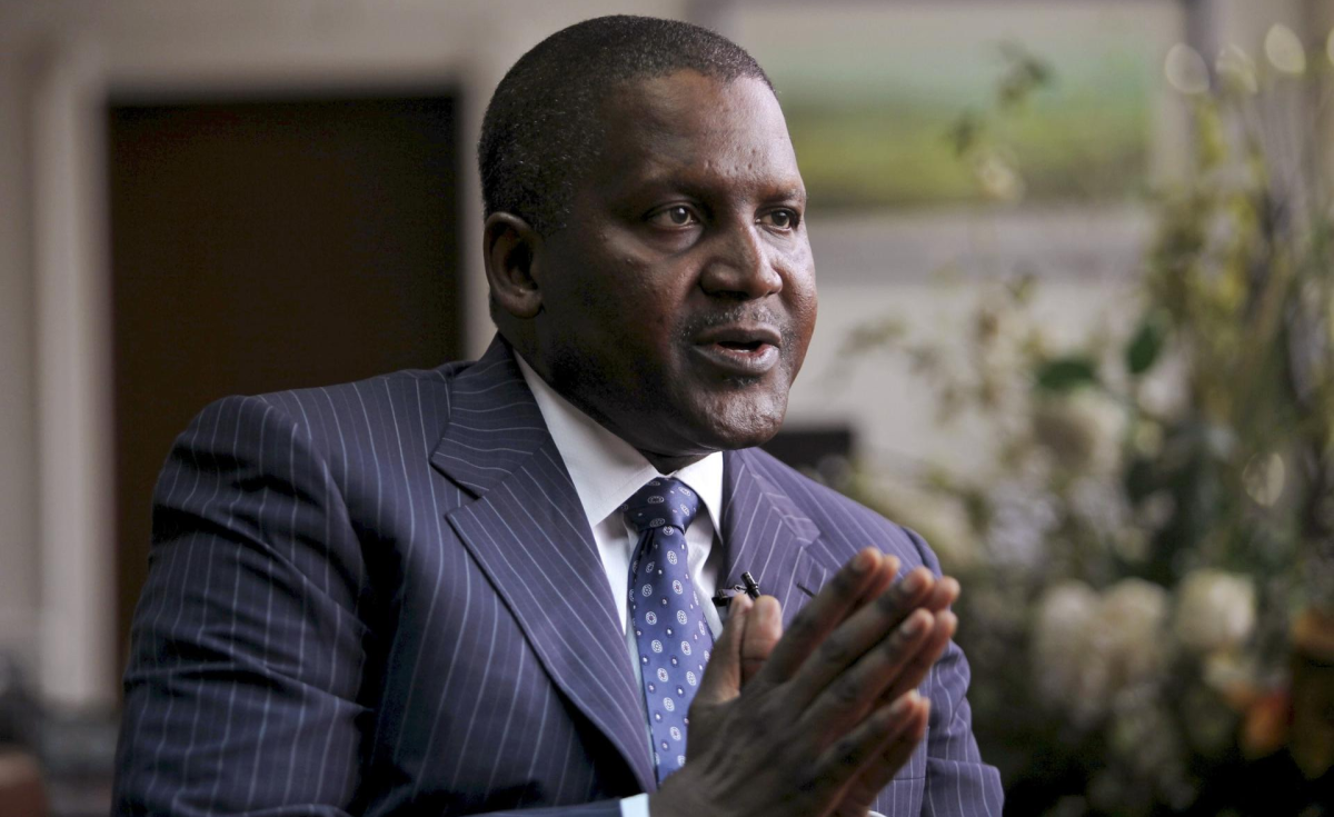 Dangote: Only African in Bloomberg 50 list of year's most influential people