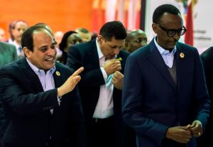 Sisi and Kagame at the Africa 2017 Forum in Sharm El Sheikh, Egypt