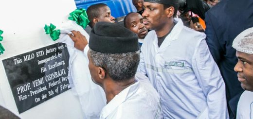 Prof. Yemi Osinbajo at Nestle