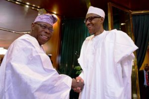 The generals smile, Muhammadu Buhari and Olusegun Obasanjo