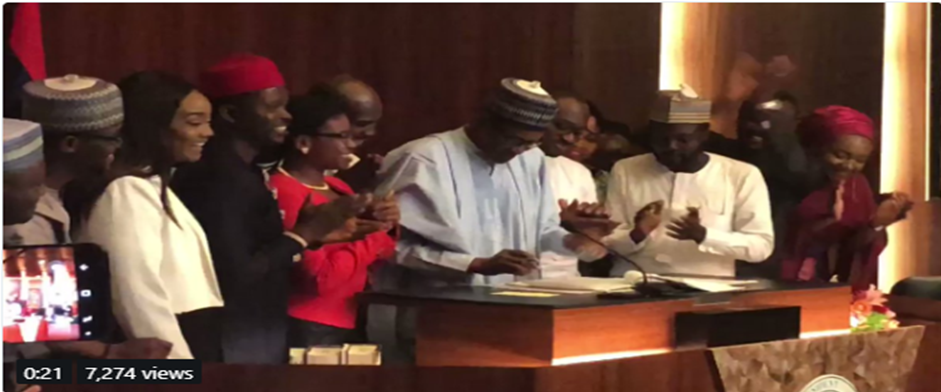 President Buhari Signs #NotTooYoungToRun Bill into Law