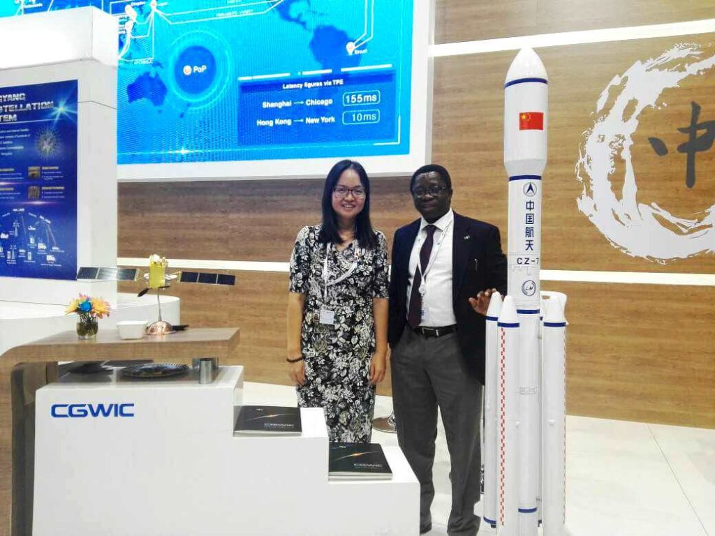 ED Marketing Nigcomsat Ltd, Hon Osagie with Lui Lan of CGWIC, China