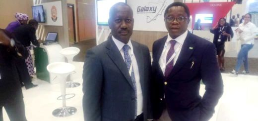 ED Marketing Nigcomsat Ltd, Hon Osagie with the MD Galaxy Backbone, Mr. Yusuf Kazaure