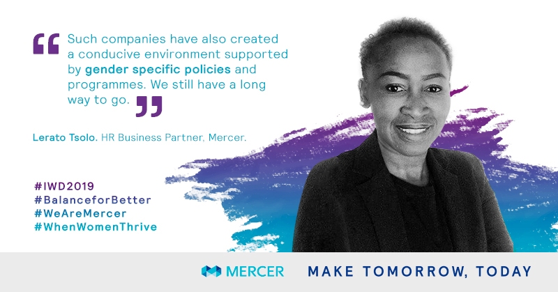 Lerato Tsolo, HR Partner at Mercer